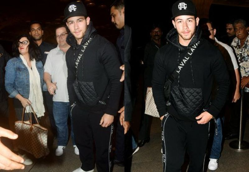 Nick Jonas Leaves for US with Family After 'Roka' with Priyanka Chopra