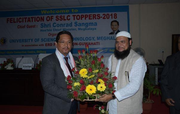 University of Science & Technology, Meghalaya honours SSLC 2018 toppers