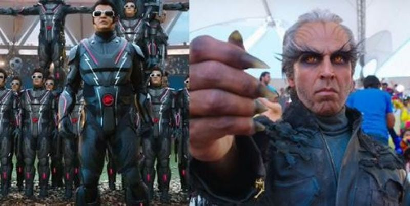 2.0 Teaser Released : Watch Rajinikanth and Akshay Kumar in What Promises to be a Technical Marvel