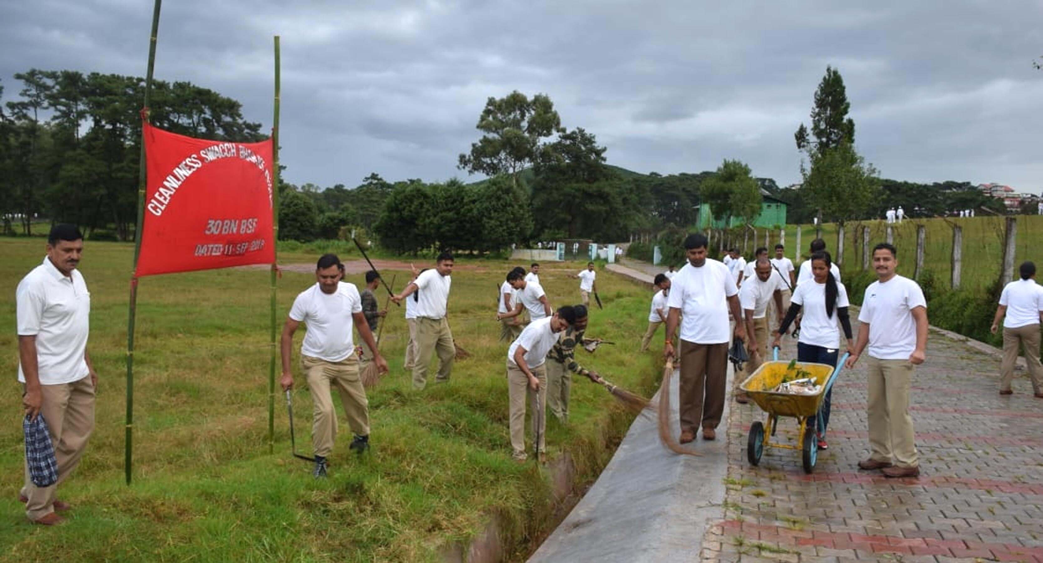 Cleanliness drive conducted by Border Security Forces (BSF)