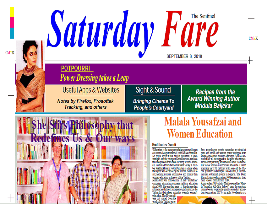 Saturday Fare supplement. Dated – 08/09/2018