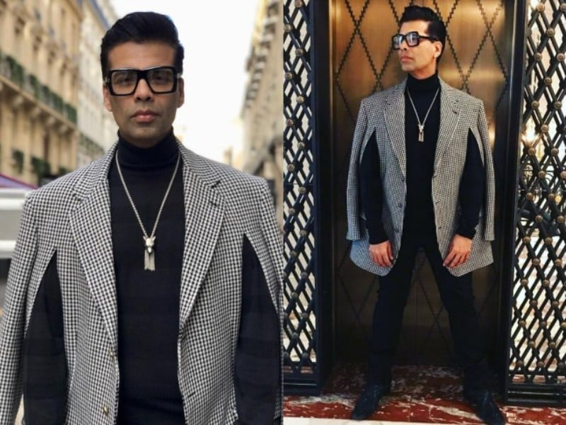 Filmmaker Karan Johar Attends Paris Fashion Week in Style