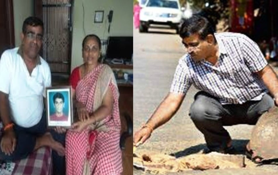 Man on Mission to Mend Mumbai's Potholes, Says it Gives Solace to Son's Soul who died in Road Accident