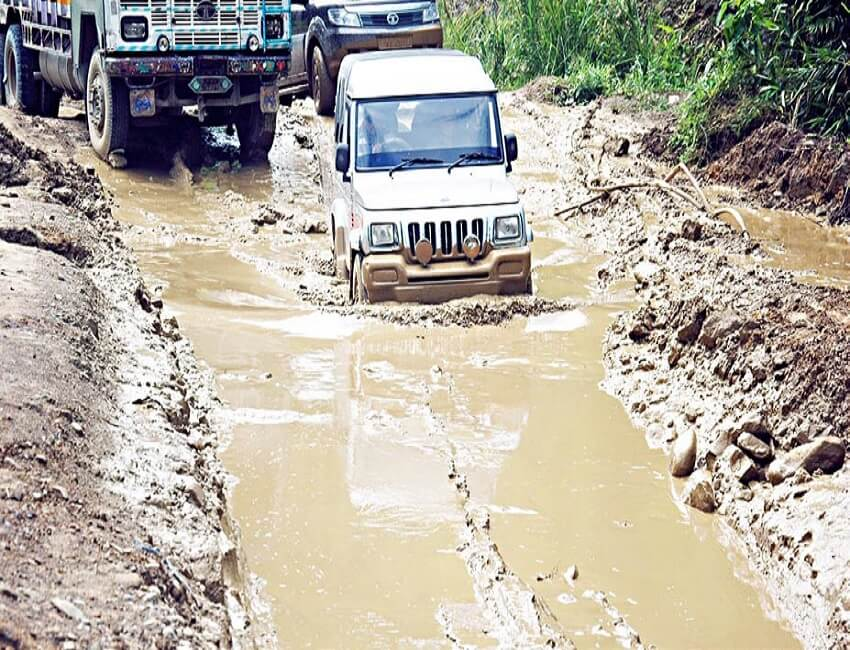 Samthaibari -Gelegphu Road: Pathetic condition of lifeline causes resentment