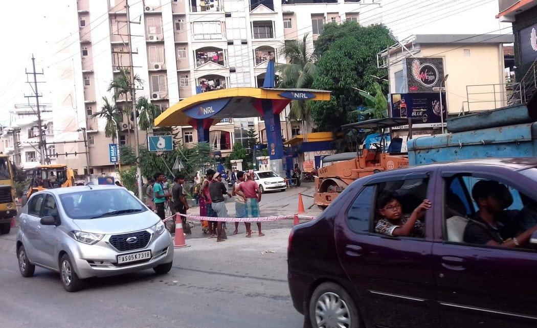 Non-ending construction work of Jayanagar road