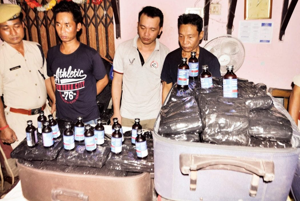 1050 Illegal Phensedyl Bottles Seized by GRP at Guwahati Railway Station, 3 held