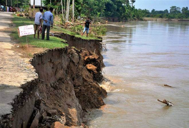 People of Nandigram rend their voice for protection from erosion