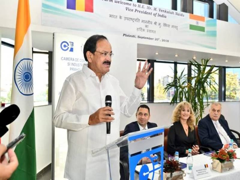 Venkaiah Naidu calls for Augmenting Romanian Investment in India