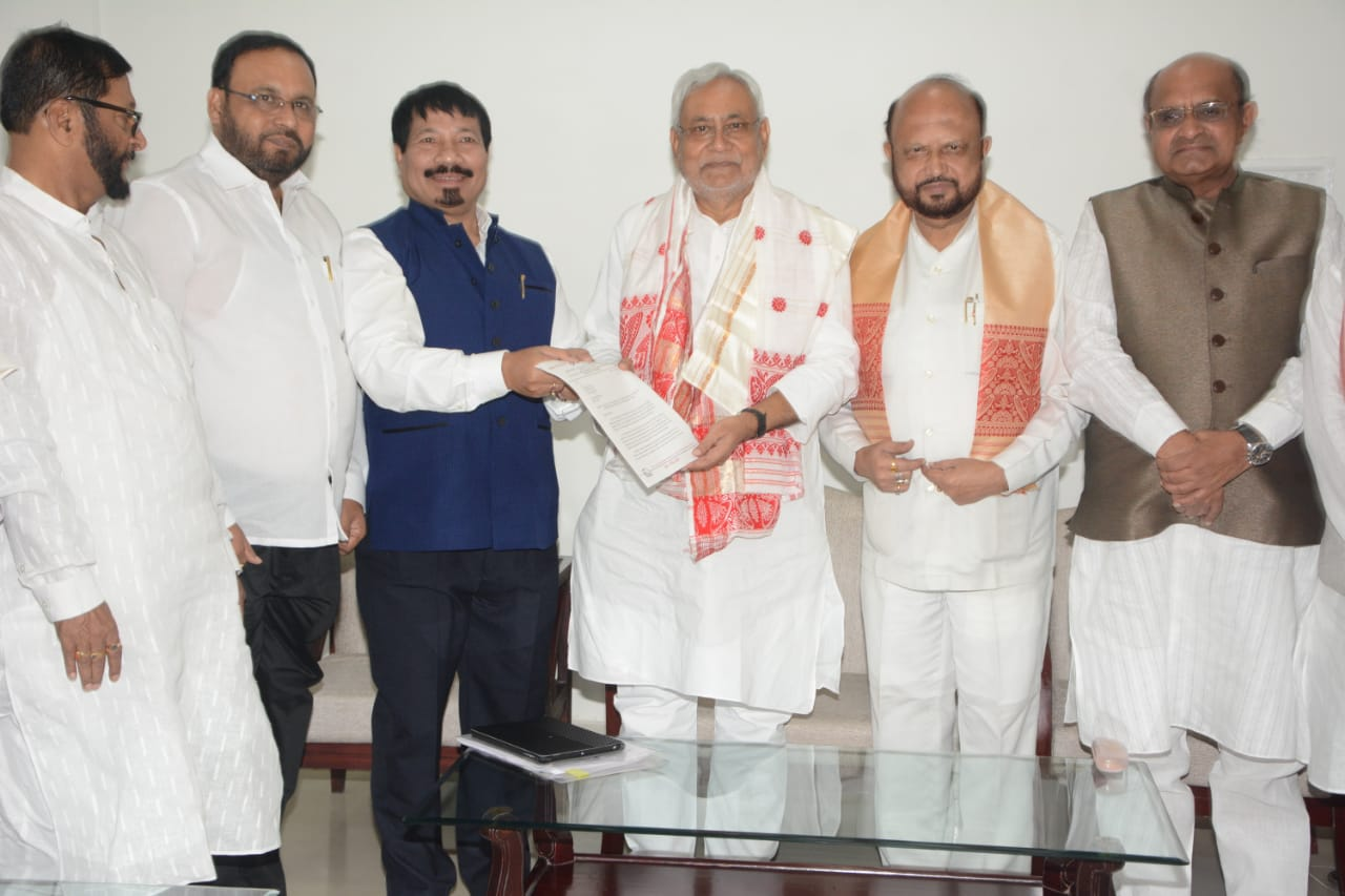 8-Member Delegation of AGP meets Bihar CM Seeking Support Against Citizenship Amendment Bill