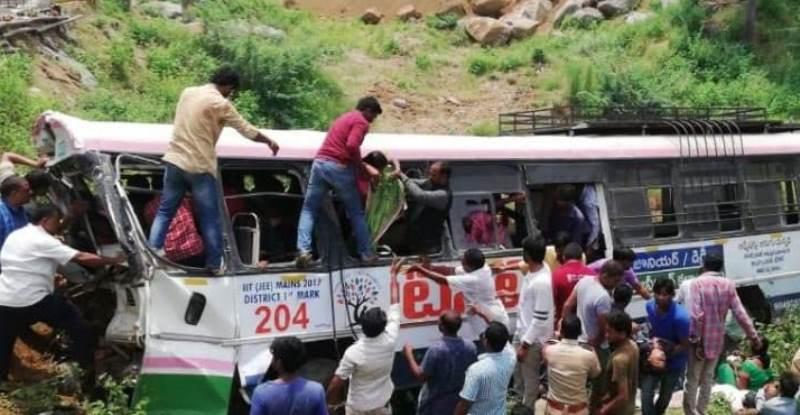 40 Killed as Telangana TSRTC Bus Falls Into Gorge in Kondagattu