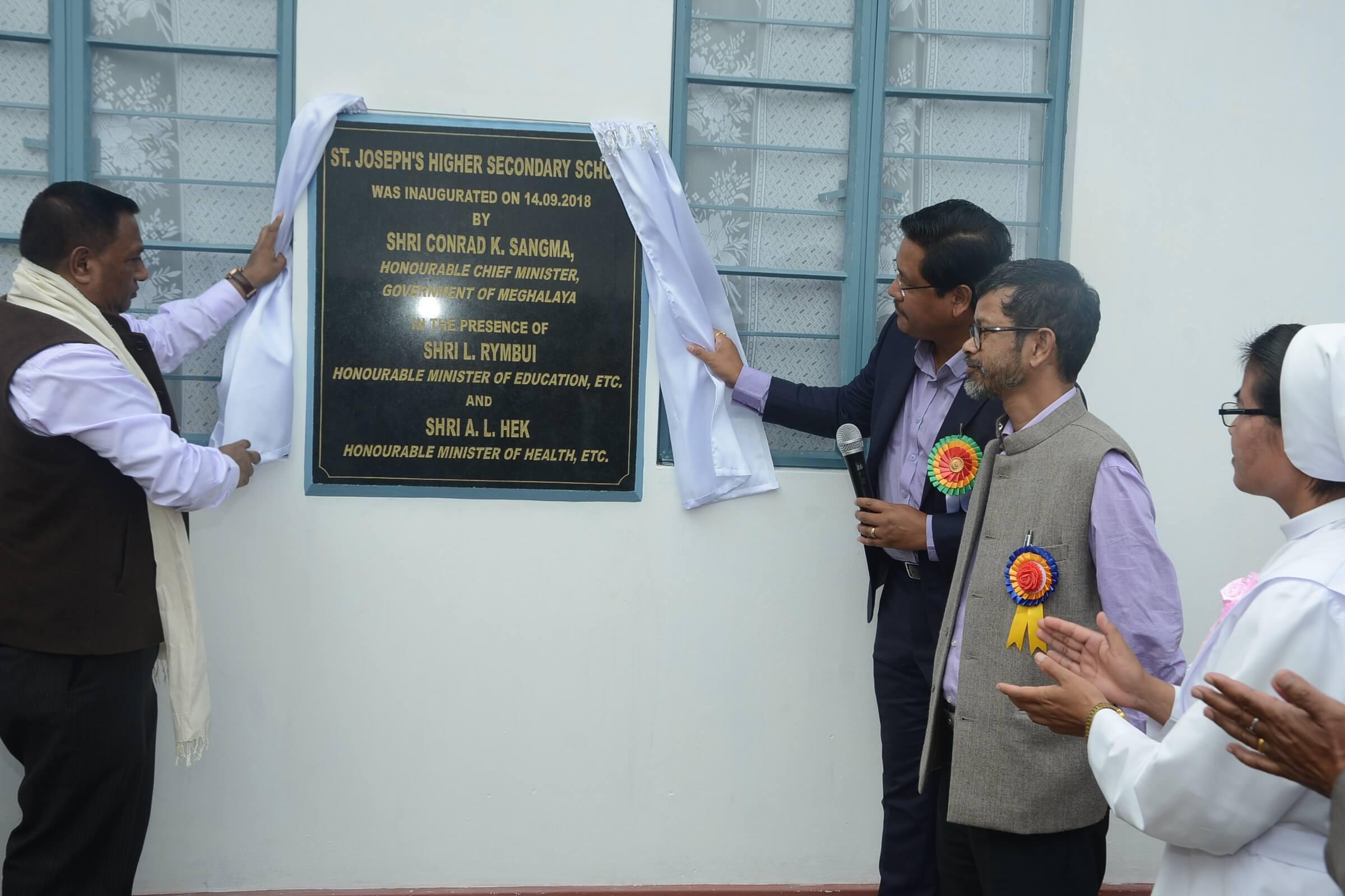 Meghalaya CM Conrad K Sangma inaugurates school