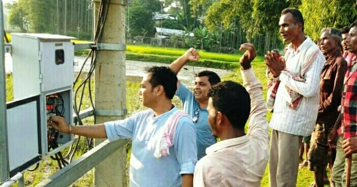 BJP leader Thoiba  inaugurates Electric transformers in Silchar