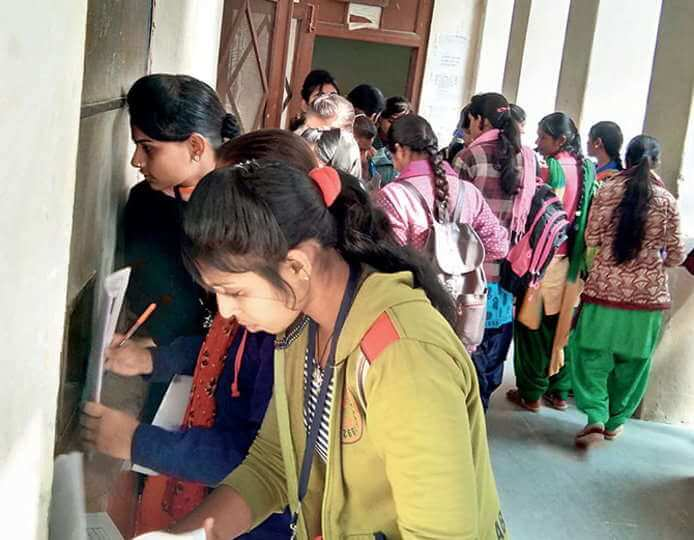 All India Democratic Students' Organization for Reducing Unjustified Enhanced Examination Fees