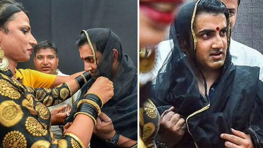 Gautam Gambhir Stands Up For Transgenders, Dresses As A Woman At 7th Edition Of Hijra Habba