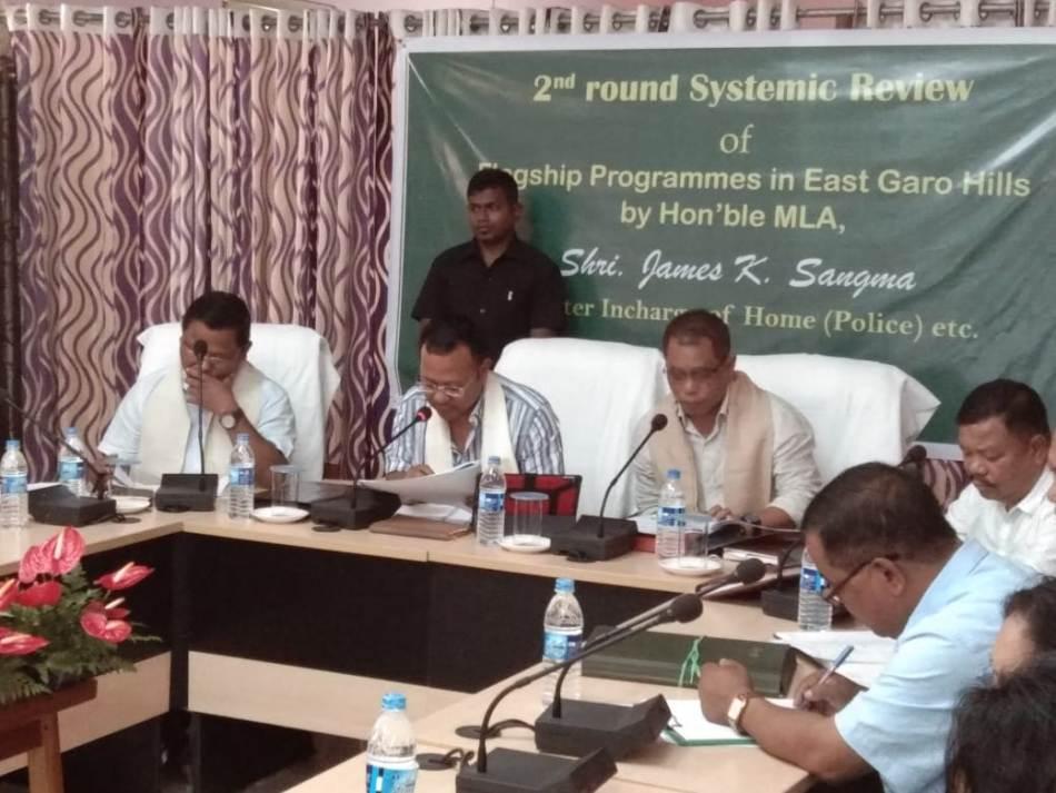 Home Minster James K Sangma Reviews Scheme Implementation in East Garo Hills