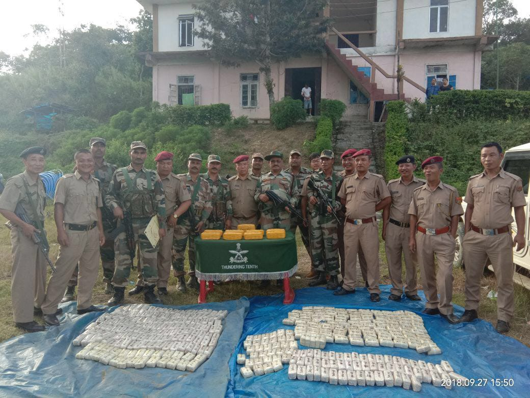 About 8.48 Lakh Methamphetamine Tablets worth Rs 17 crore Seized in Indo-Myanmar Border