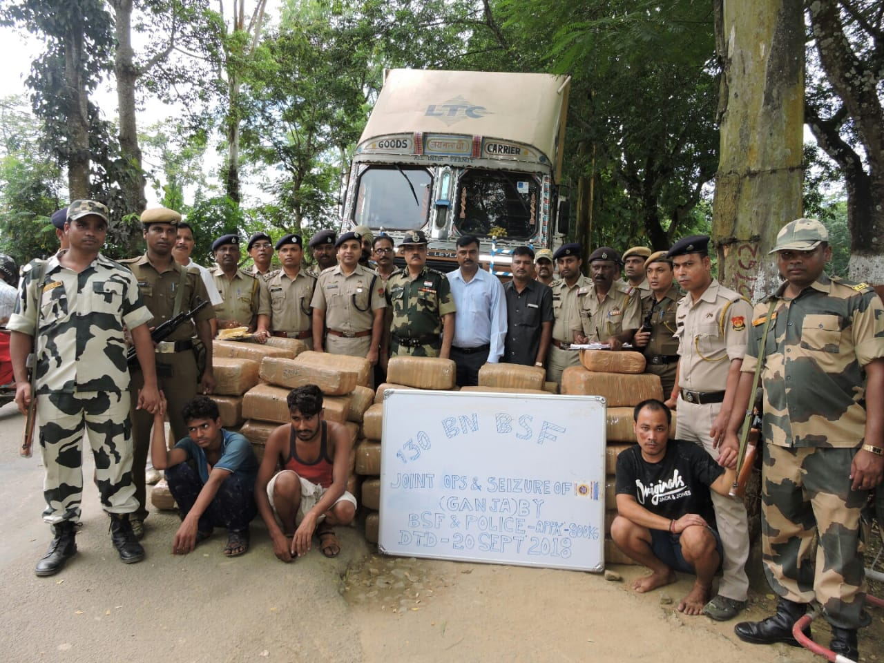 Huge Quantity of Narcotics Seized by Border Security Force in Tripura