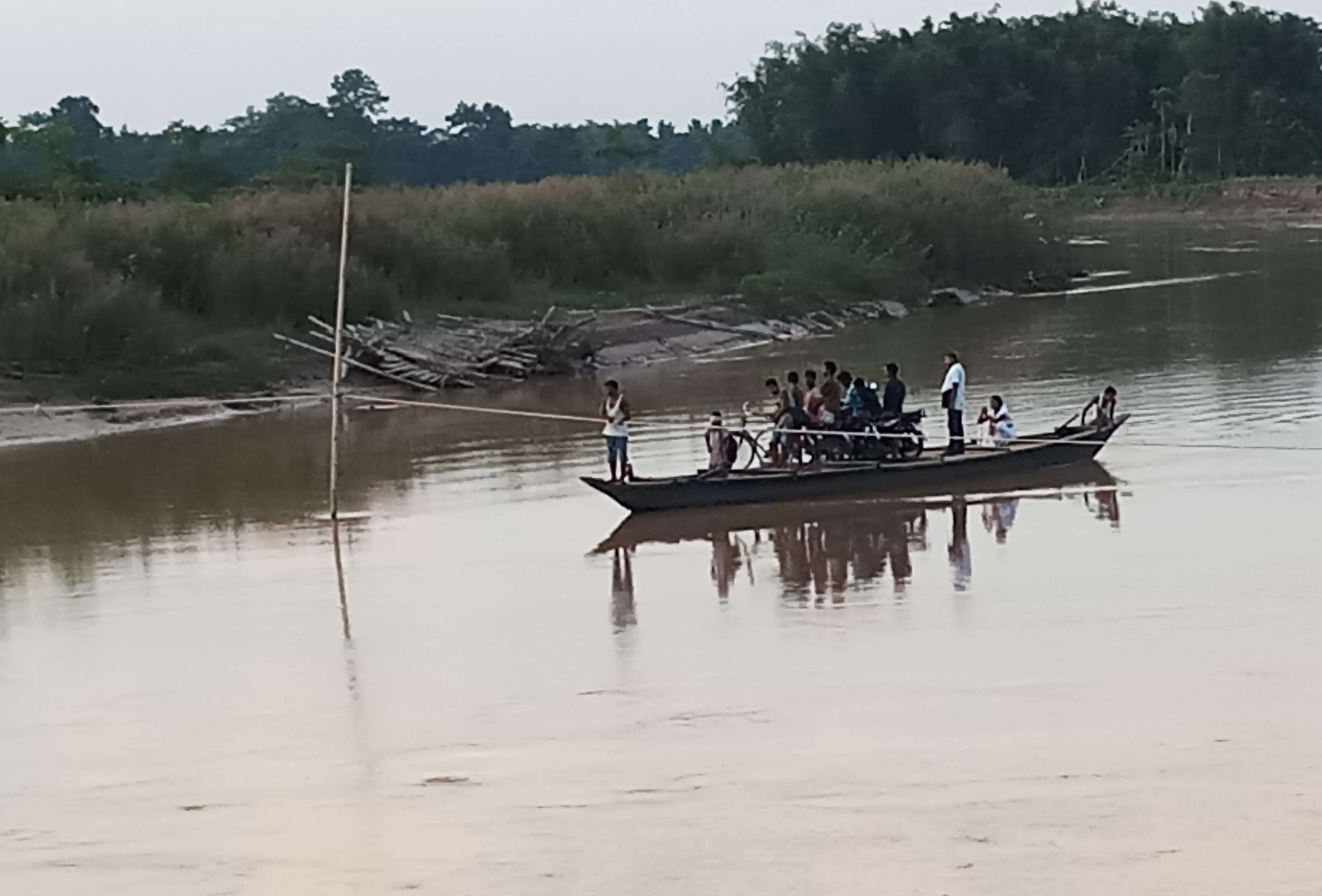 Slow Pace of Construction Work of RCC Bridge Over Dhansiri River Irks People