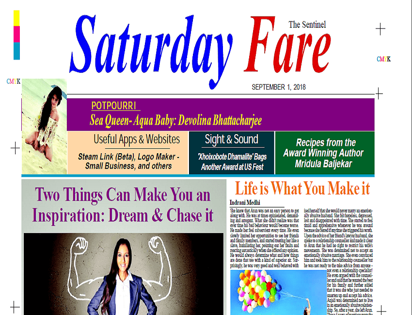 Saturday Fare supplement. Dated – 01/09/2018