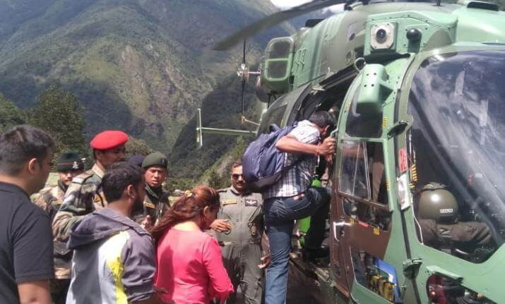 North Sikkim Heavily Damaged due to Rain; Indian Army Airlifts the Tourists Stuck in Affected Area