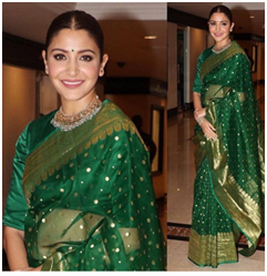 Anushkas Sarees are Worth Being in Your Wardrobes, this Puja