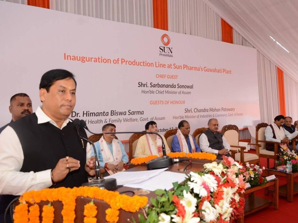 CM Sarbananda Sonowal inaugurates new plant of Sun Pharma at