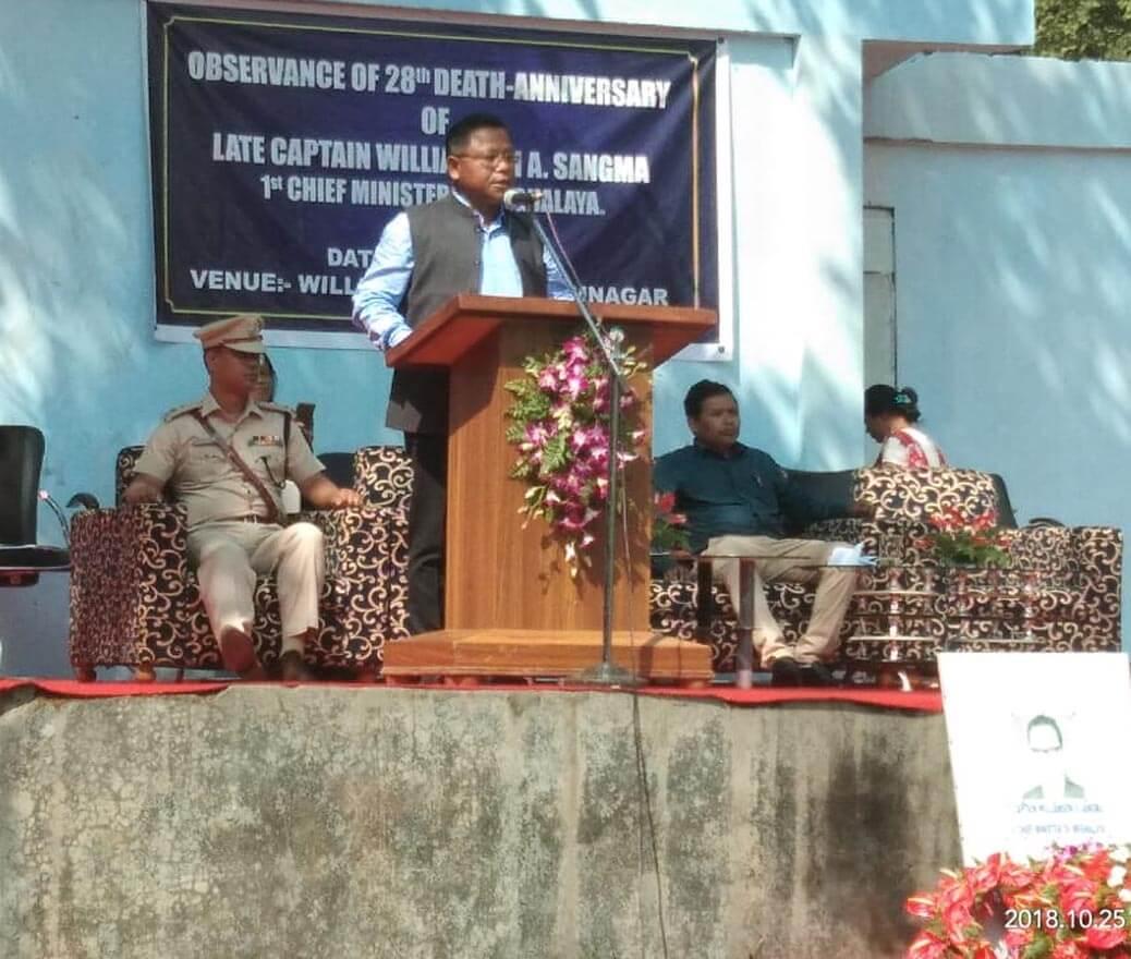 Garo Hills observes Capt Sangma's Death Anniversary