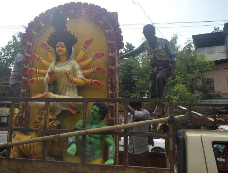Durga Puja Festivity Grips Lakhimpur