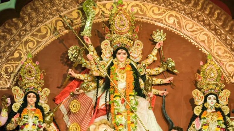Governor Jagdish Mukhi inaugurates Bishnupur Durga Puja
