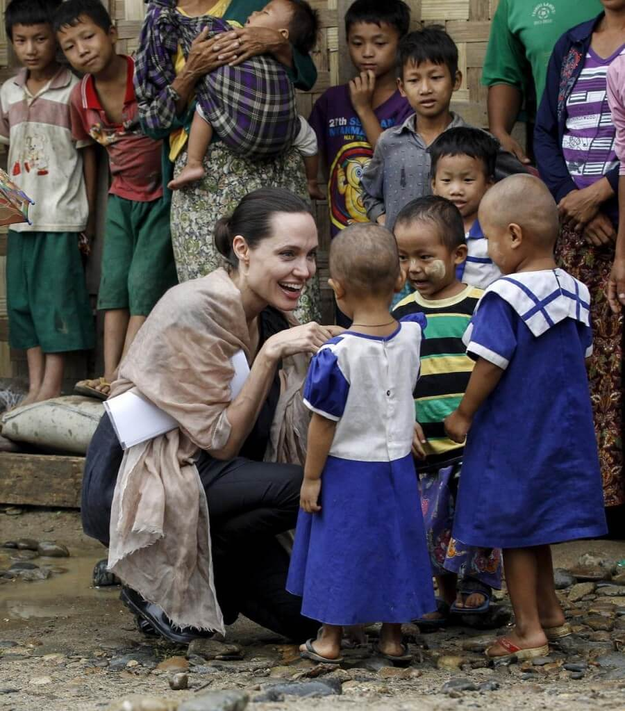 Angelina Jolie Visits Venezuelan Refugees in Peru