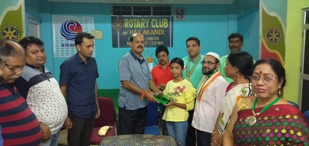 North East Quiz Champion Swarupa Das Felicitated, Hailakandi