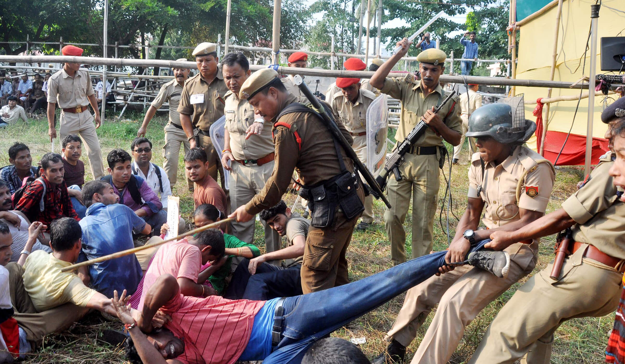 Krishak Sramik Unnayan Parishad, Assam  condemns baton charge on differently abled, to approach High Court