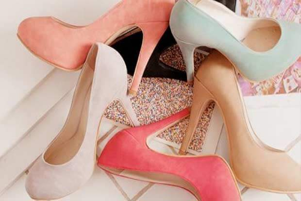 Update your shoe wardrobe with platforms, pastels
