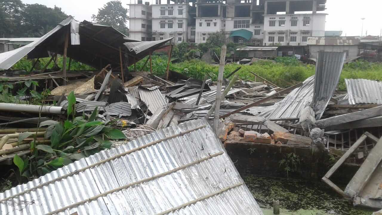 Kamrup District Administration Carries Out Eviction Drive in Jalukbari ; 18 Families Lose Their Homes