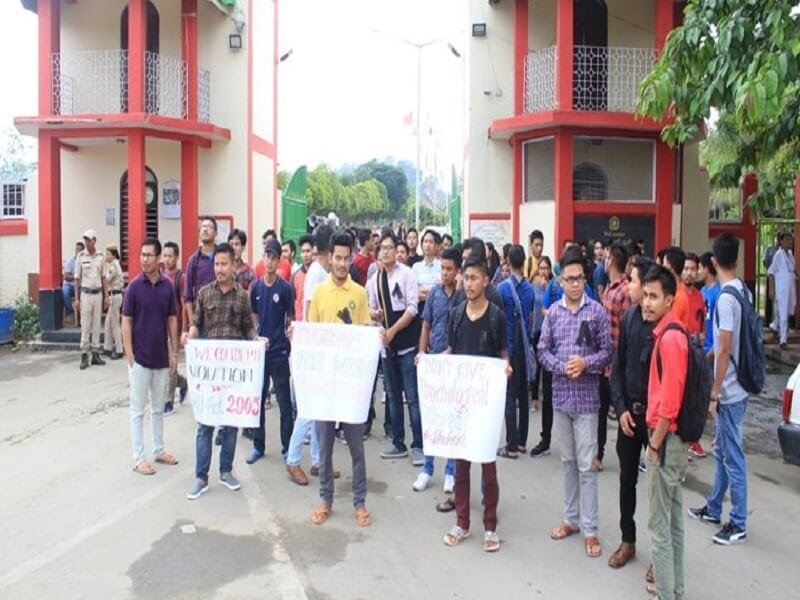 Manipur University: Students, teachers protest against acting VC's remarks; proposed blockade suspended