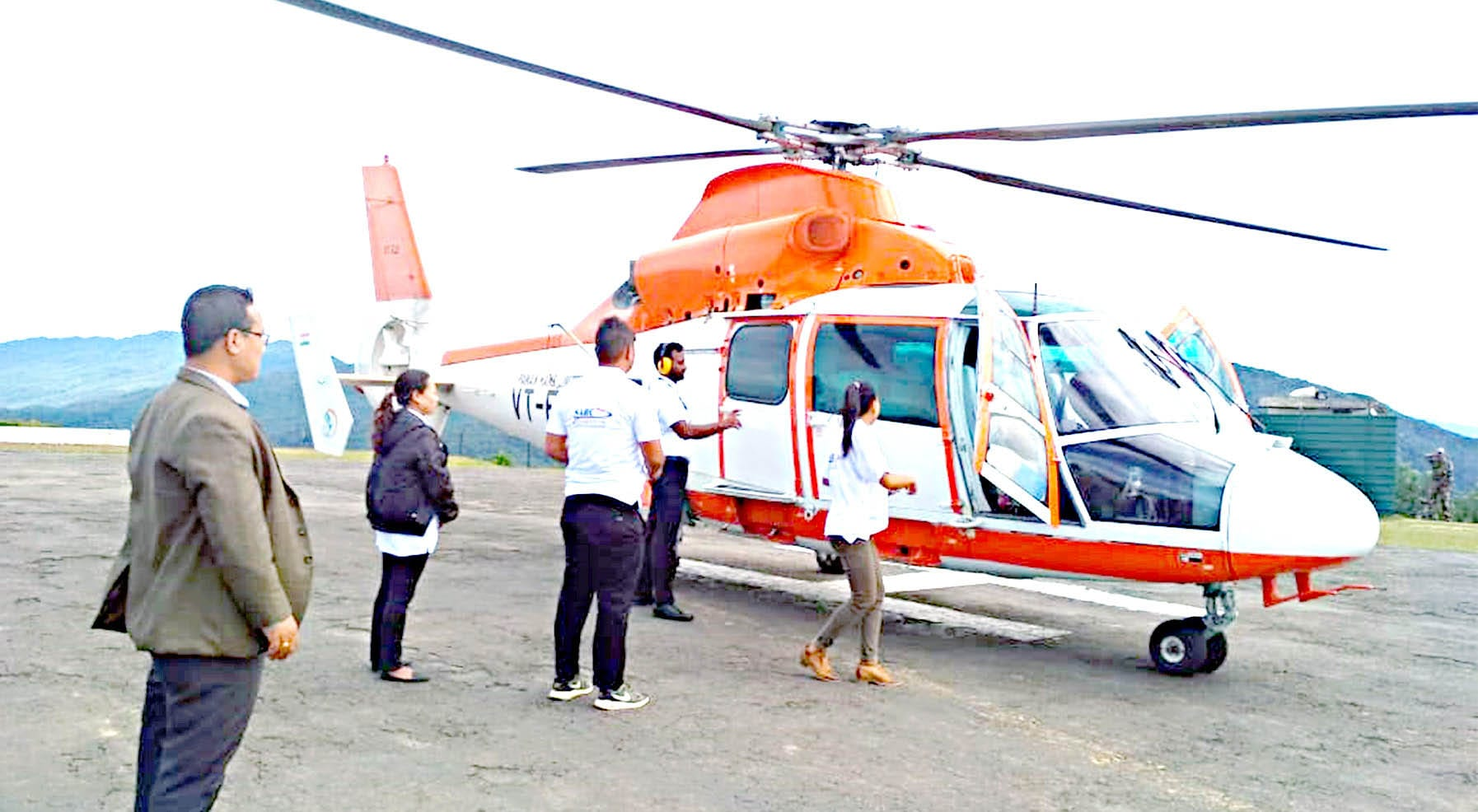 Imphal-Moreh and Imphal-Tamenglong Helicopter Services Launched in Manipur