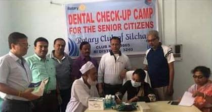 Rotary Club of Silchar organises Dental check-up camp for senior citizens