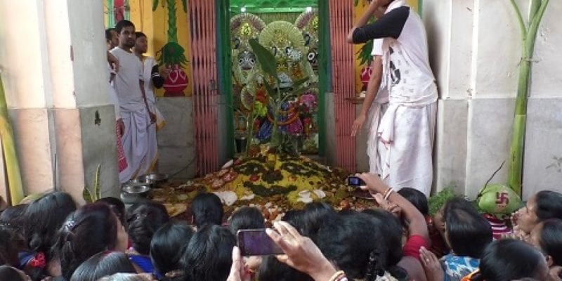 Devotees Throng the Jagannath Jew Temple in Agartala for Govardhan Puja