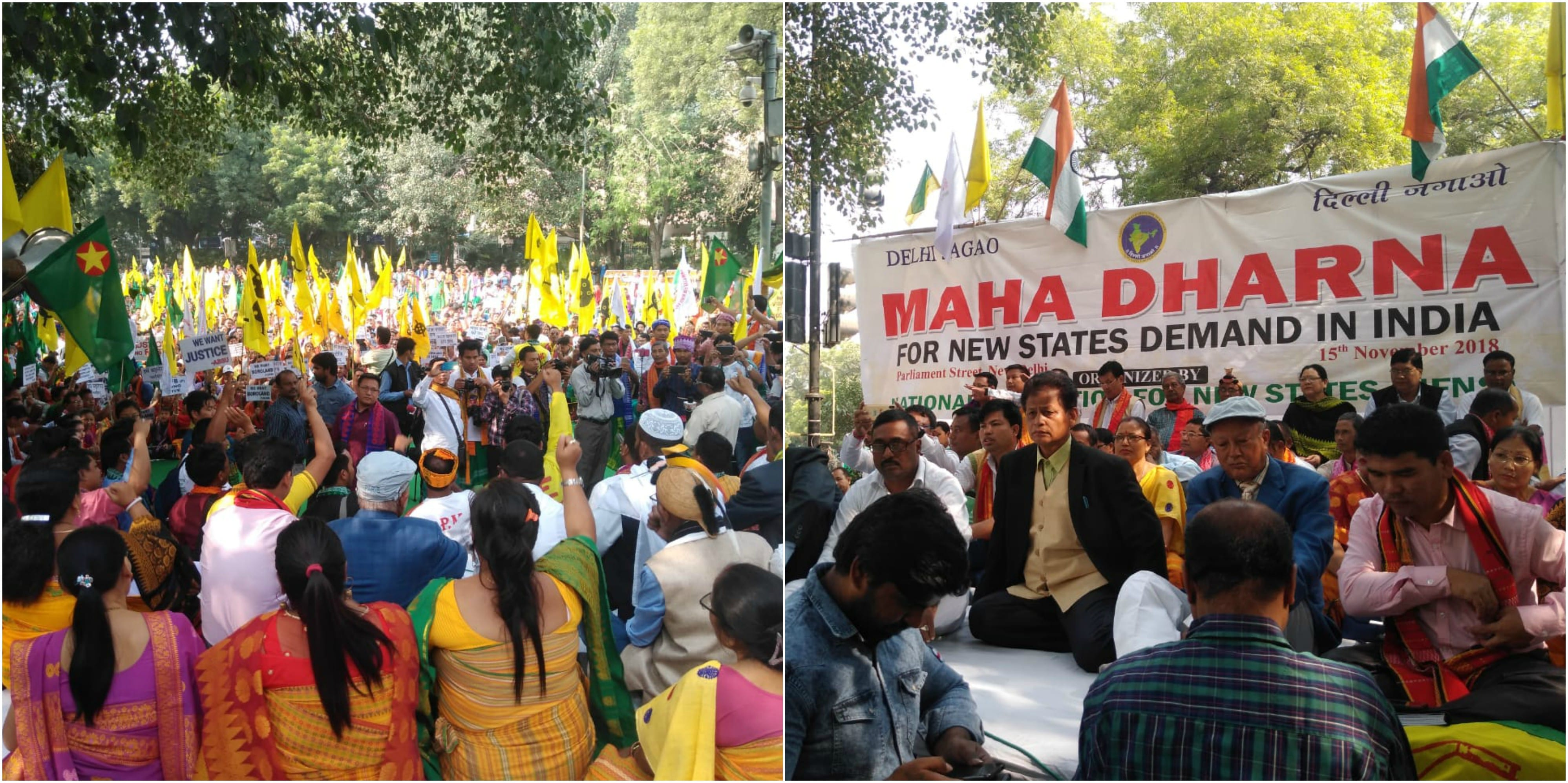 National Federation for New State stages a day long 'Maha Dharna' in National Capital