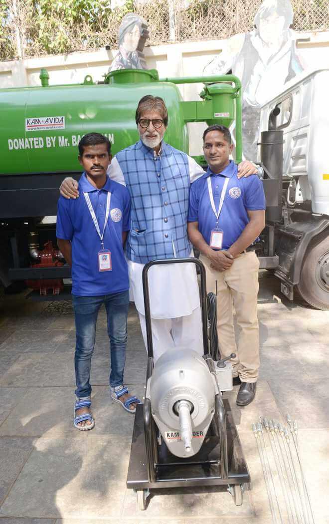 Bollywood Megastar Amitabh Bachchan buys Machines for Manual Scavengers