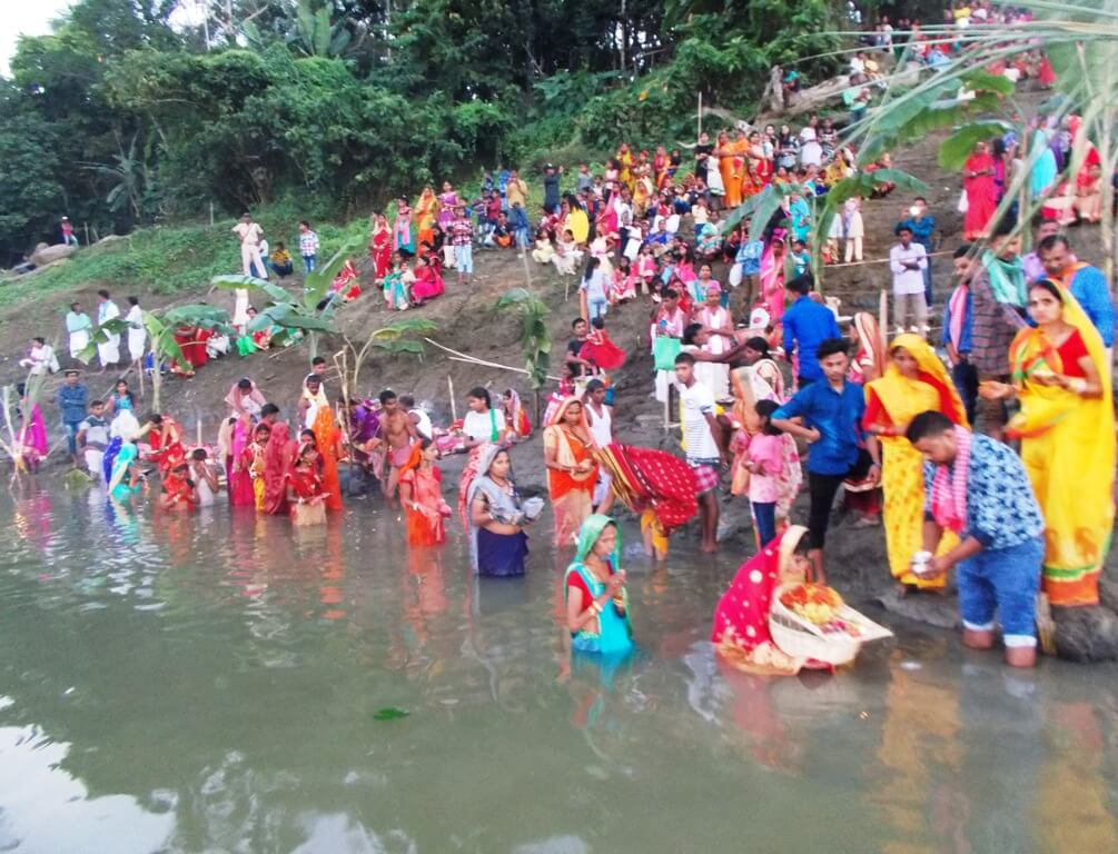 Chhath Puja observed across Lakhipur in Silchar