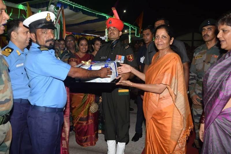 Defence Minister Nirmala Sitharaman celebrates Diwali  with troops