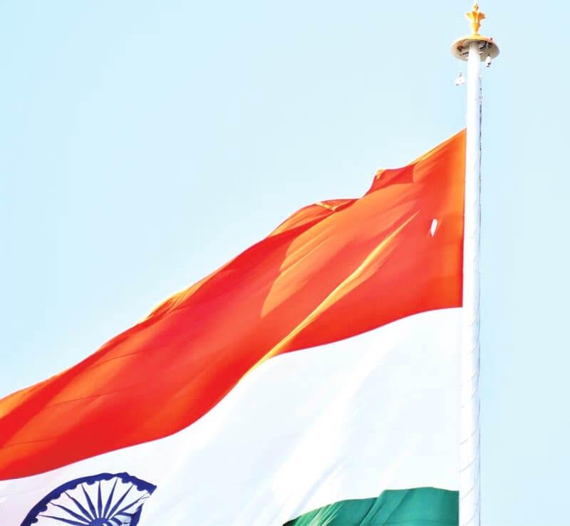 National Flag near Gandhi Mandap torn again