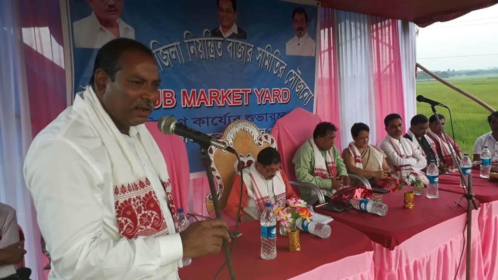 Foundation stone of a new Market Sub-Yard laid in Hailakandi district