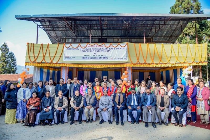 Sikkim: Governor Ganga Prasad adopted a Village as Adarsh Gram