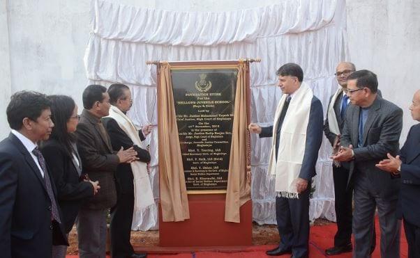 Chief Justice of Meghalaya Mir lays foundation of Juvenile School