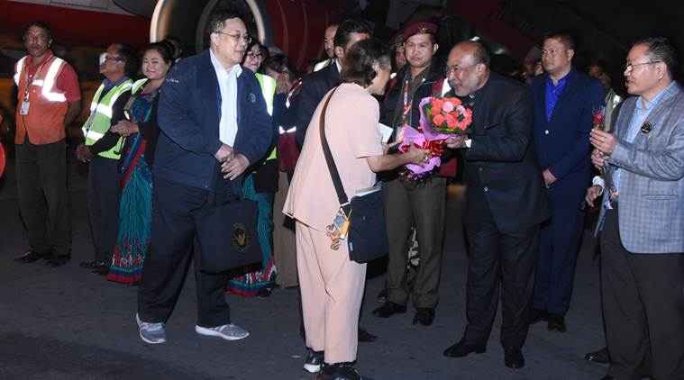 Manipur : Thailand Princess Maha Chakri Sirindhorn Arrives in Imphal