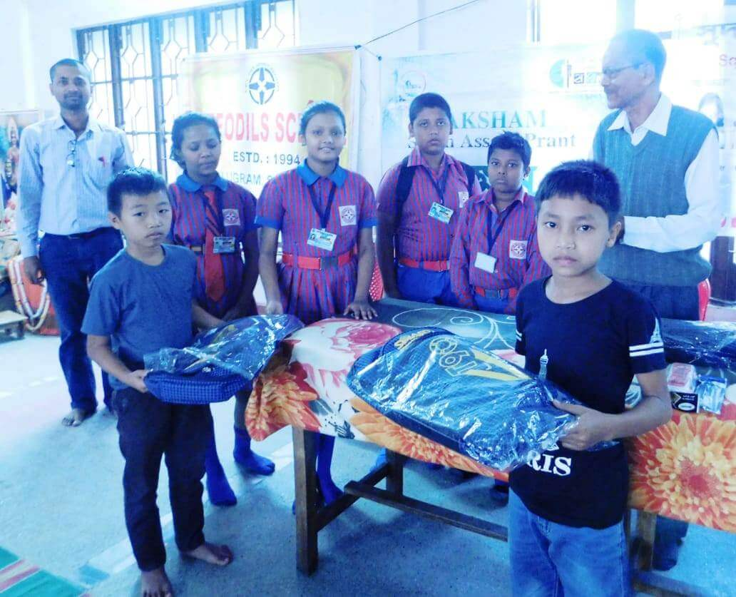 Study materials distributed among 37 children on the occasion of Children's Day in Silchar
