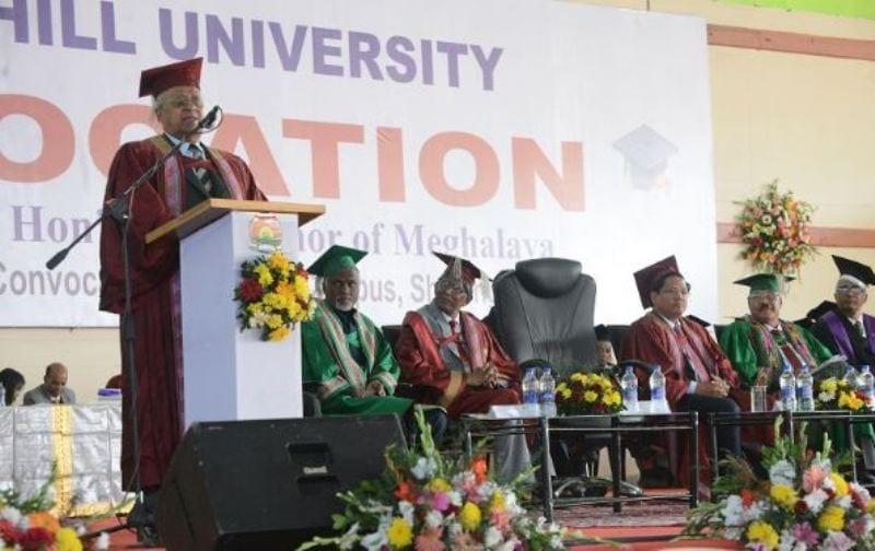 Meghalaya Governor Tathagatha Roy, CM Sangma attend NEHU convocation
