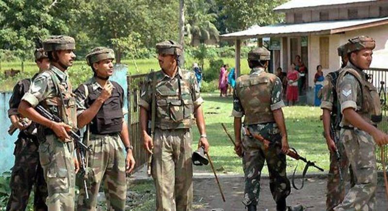 Massive security blanket for violence free Panchayat polls in Assam